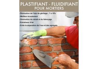 Plastifiant, fluidifiant pour mortiers - PLASTOFLUID - BATIFLUID